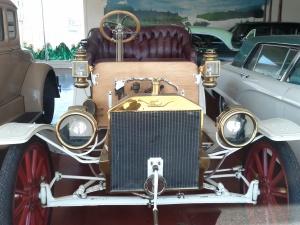 Classic Ford in a shop window in Eureka, Ca.