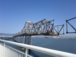 Dismantling of the old span of the Bay Bridge.