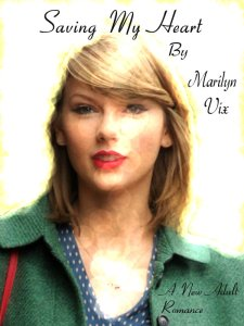 """Another cover design for """"Saving My Heart"""" by myself by using iPiccy.com."""
