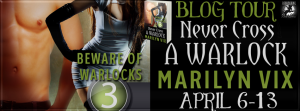 The Never Cross A Warlock Blog Tour runs from April 6-13.